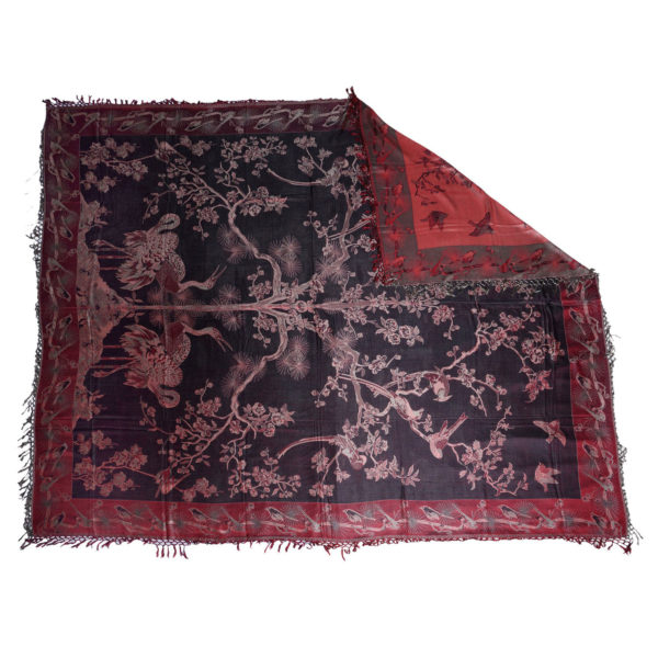 Banyan Red / Black Charming Silk Throw 1