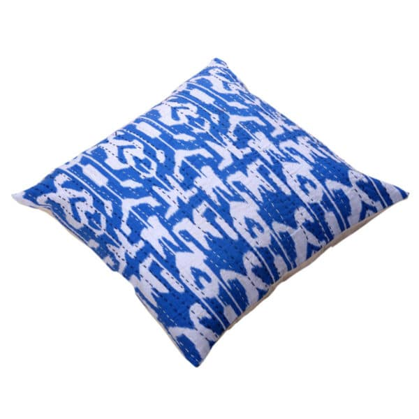 Indian Artisan Blue Printed Cushion 1