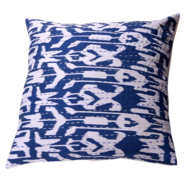 Indian Artisan Navy Printed Cushion 1