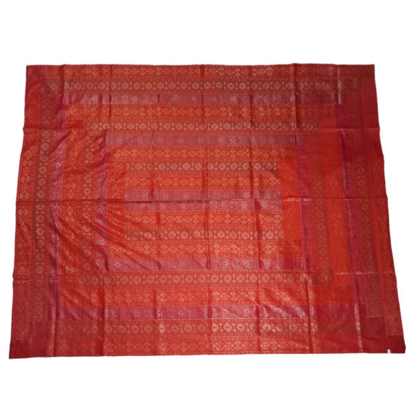 Rajasthan Cherry Artificial Silk Bedcover 1