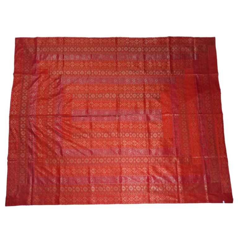 Rajasthan Cherry Artificial Silk Bedcover 4