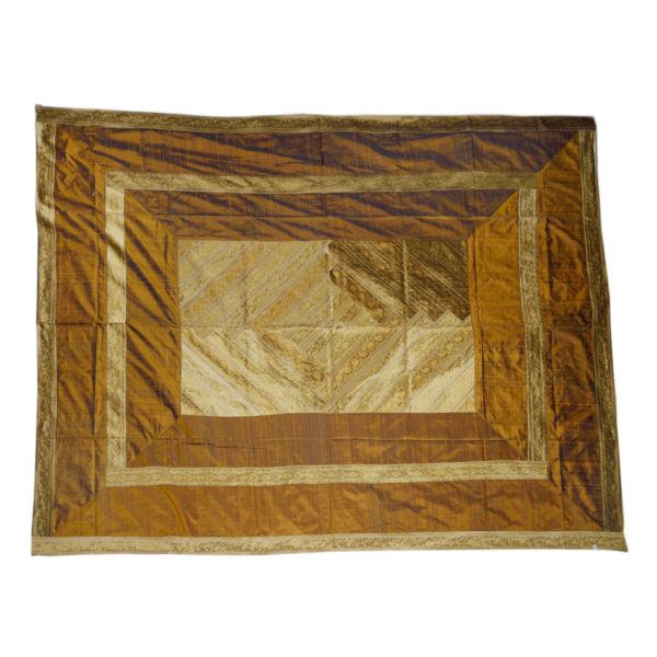 Rajasthan Gold Artificial Silk Bedcover