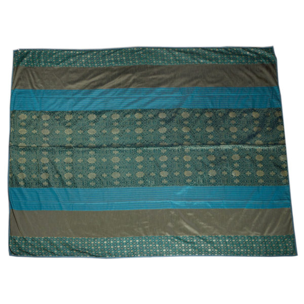 Rajasthan Green Artificial Silk Bedcover 1