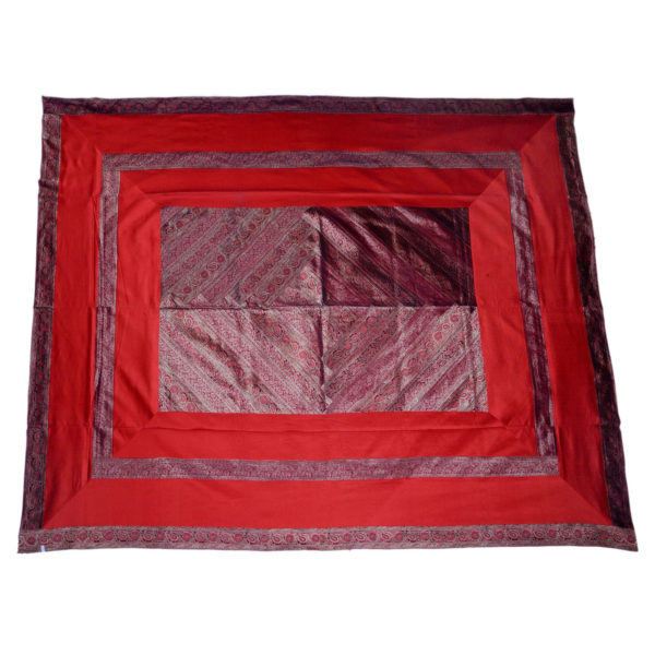 Rajasthan Ruby Artificial Silk Bedcover 1