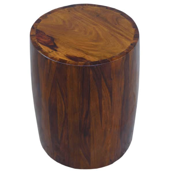 Sheesham Brown Solid Tubla Stool 1