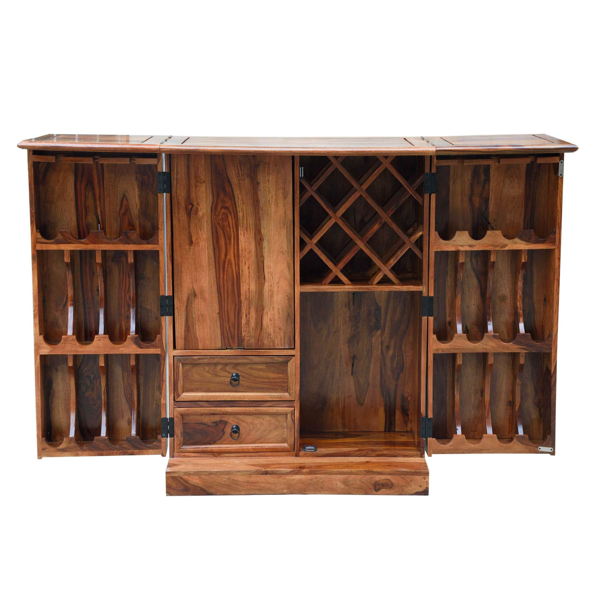 Sheesham Brown Wine Cabinet 3
