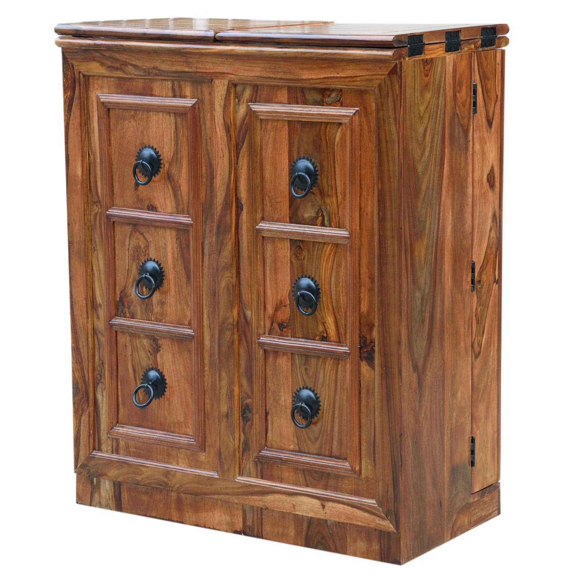 Sheesham Brown Wine Cabinet 7