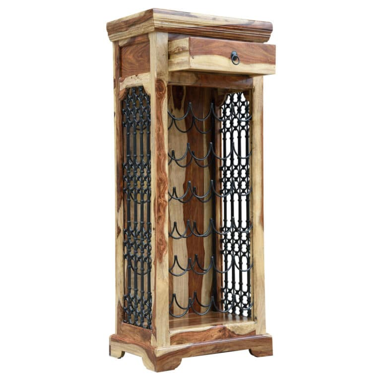 Sheesham Handcrafted Wine Rack 5