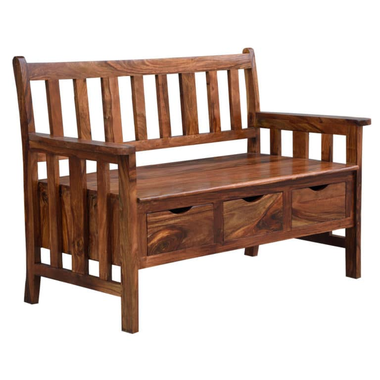 Sheesham Storage Bench 9