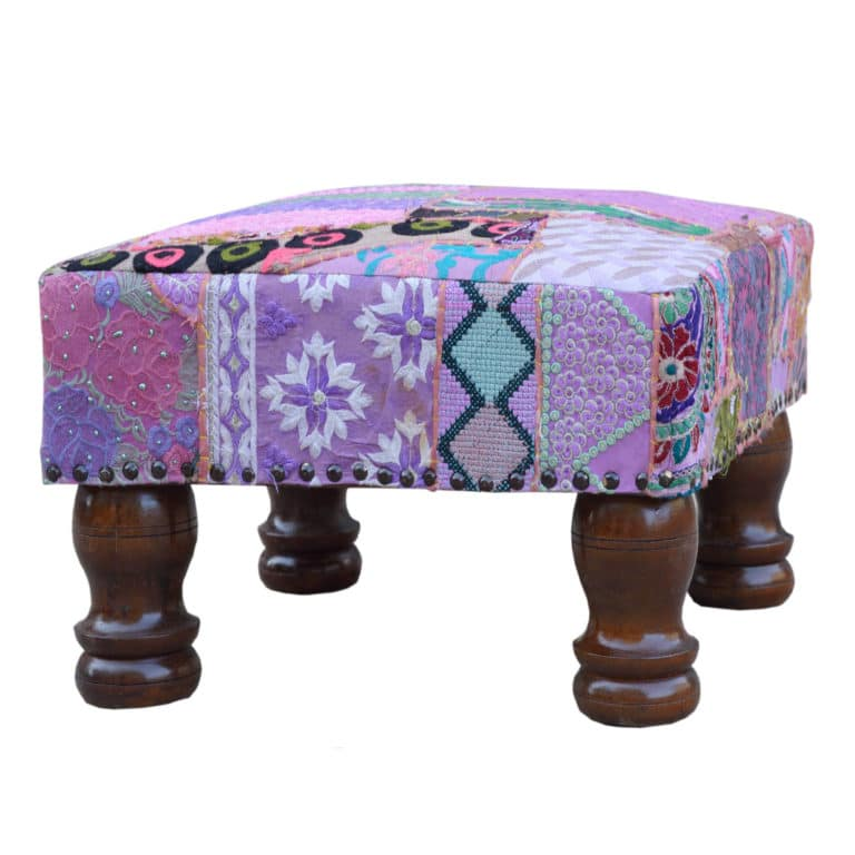 Sheesham Vintage Patchwork Foot Stool 6