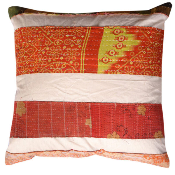 South Asian Patchwork Kantha Cushion 1