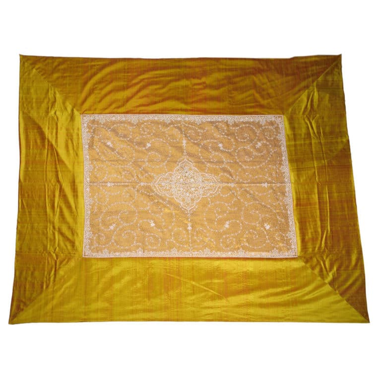 Zardogi Gold Raw Silk Bedcover 3